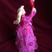 Creative Paperclay and Paverpol pink bottle doll valentine  by gloricom   (329)