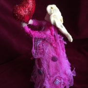 Creative Paperclay and Paverpol pink bottle doll valentine  by gloricom   (331)