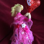 Creative Paperclay and Paverpol pink bottle doll valentine  by gloricom   (332)