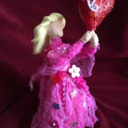 Creative Paperclay and Paverpol pink bottle doll valentine  by gloricom   (333)