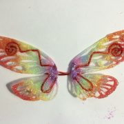 glow in the dark rainbow glitter wings
